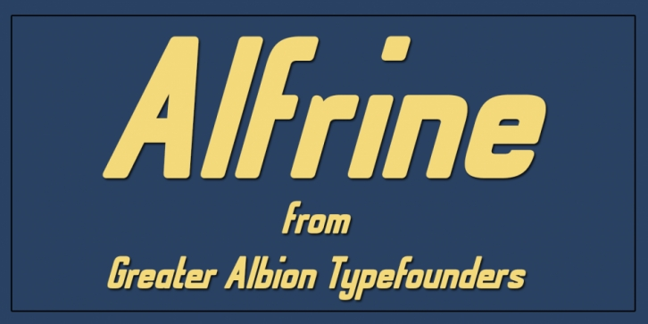Alfrine font preview