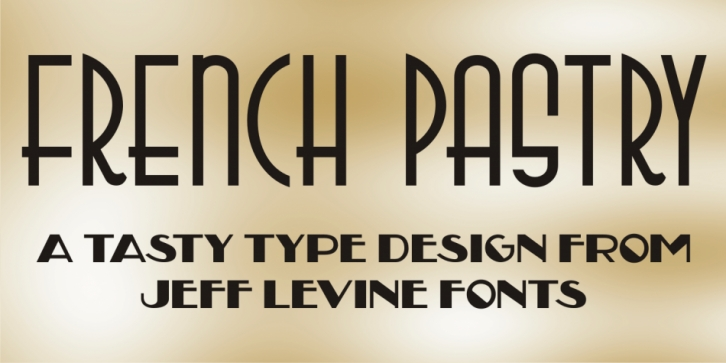 French Pastry JNL font preview