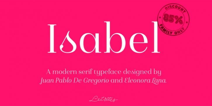 Isabel font preview