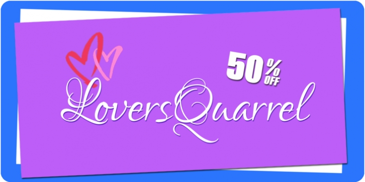 Lovers Quarrel font preview