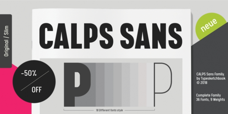 Calps Sans font preview