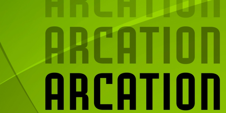 Arcation font preview