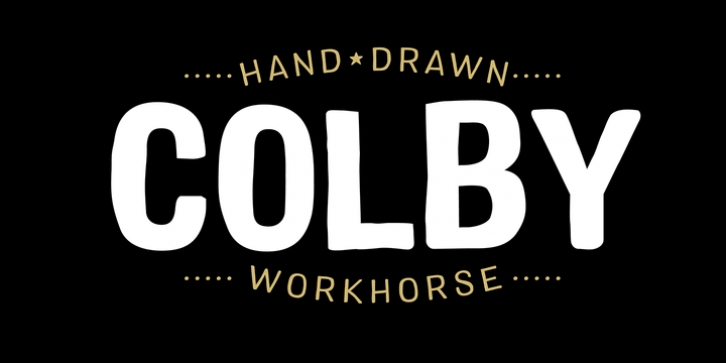 Colby font preview