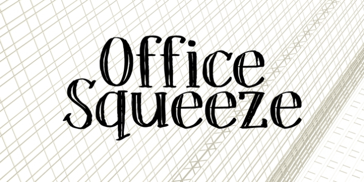 Office Squeeze font preview