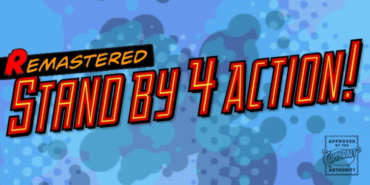 Stand By 4 Action font preview