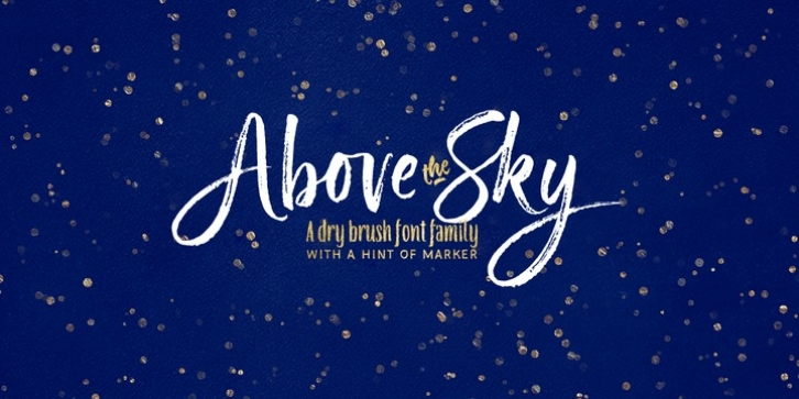Above the Sky font preview