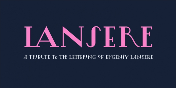 Lansere font preview