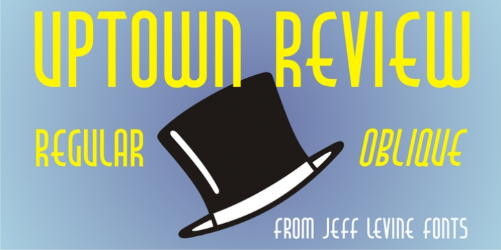 Uptown Review JNL font preview