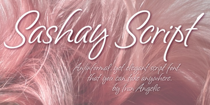 Sashay Script font preview