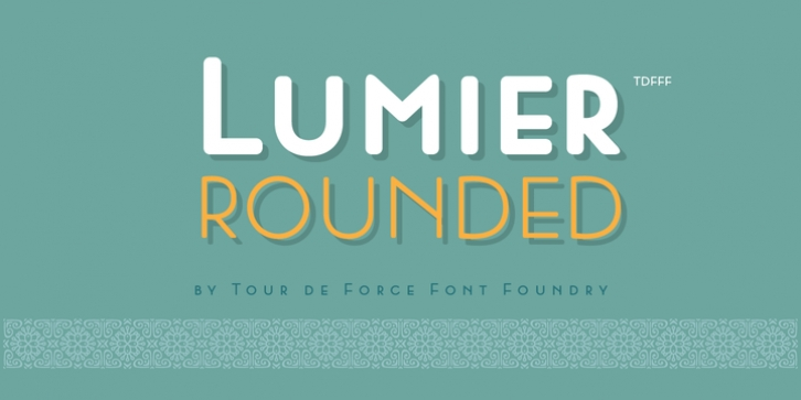 Lumier Rounded font preview