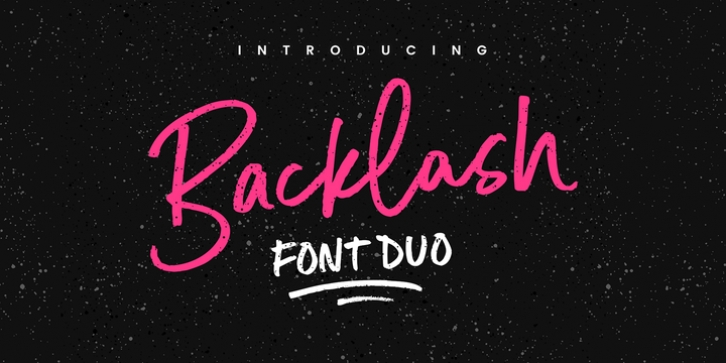 Backlash Font Duo font preview