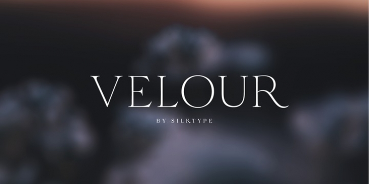 Velour font preview