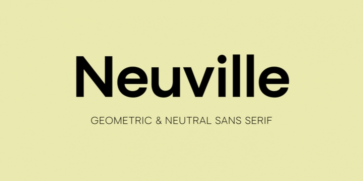Neuville font preview