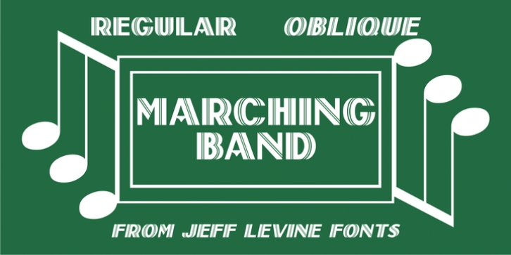 Marching Band JNL font preview