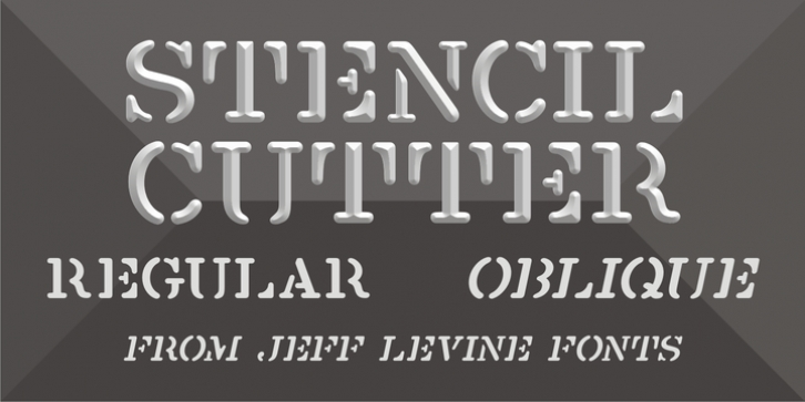 Stencil Cutter JNL font preview