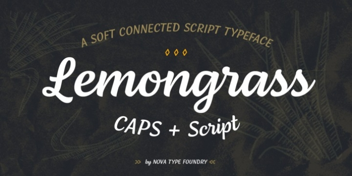 Lemongrass font preview