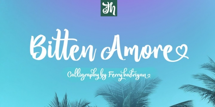 Bitten Amore font preview