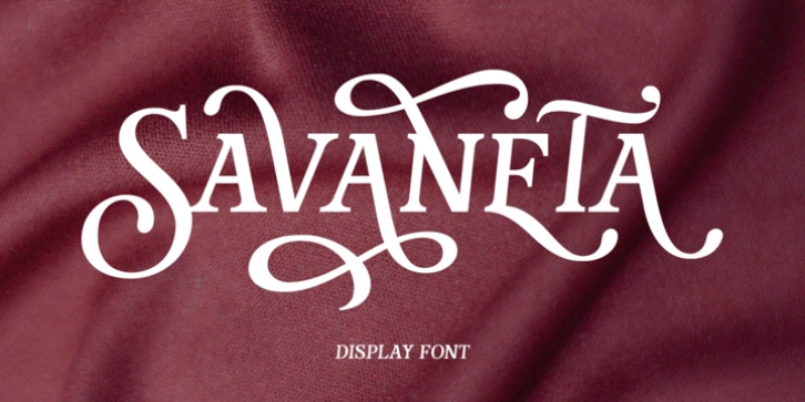 Savaneta font preview