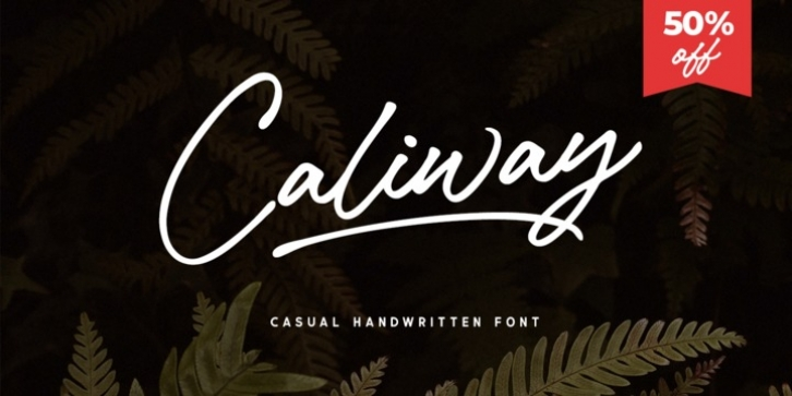 Caliway font preview