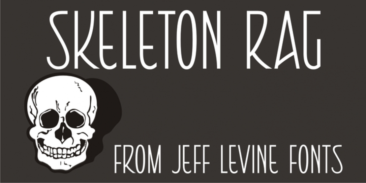 Skeleton Rag JNL font preview