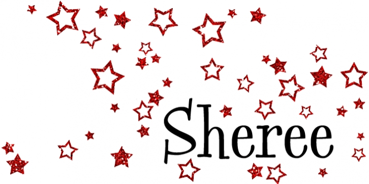Sheree font preview