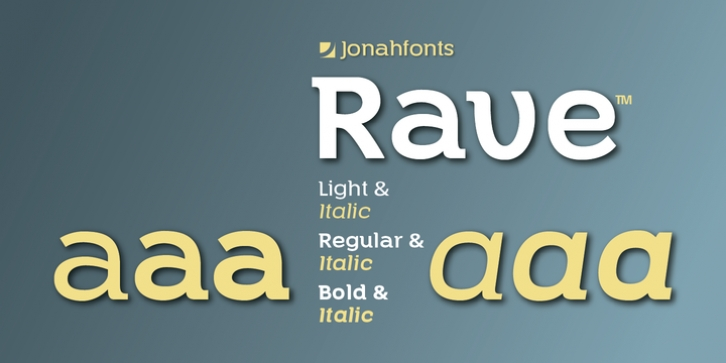 Rave font preview