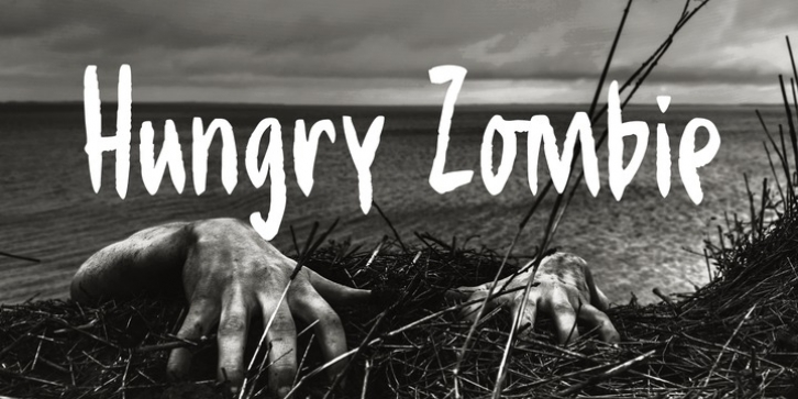 Hungry Zombie font preview