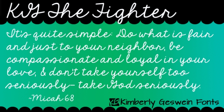 KG The Fighter font preview