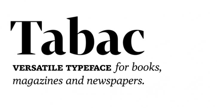 Tabac font preview