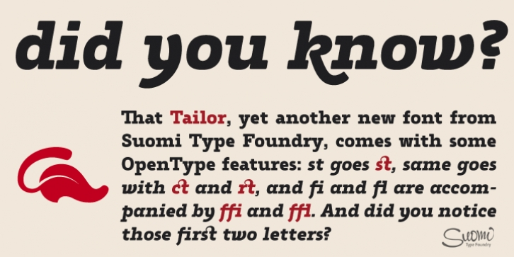 Tailor font preview