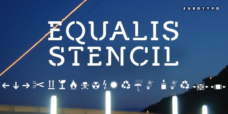 Equalis Stencil font preview