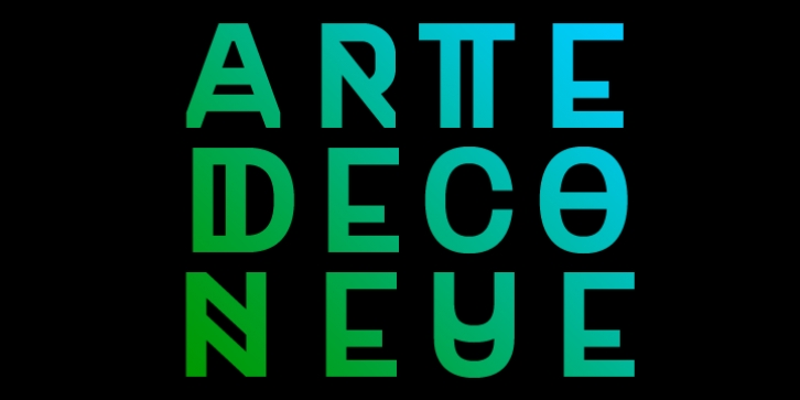 Art Deco Neue font preview