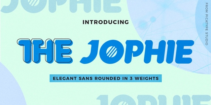 The Jophie Sans font preview