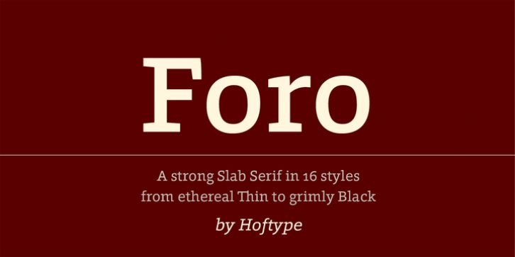 Foro font preview