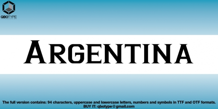 Argentina font preview