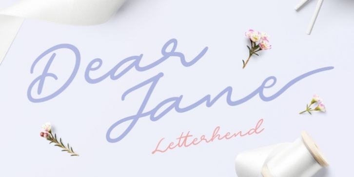 Dear Jane font preview