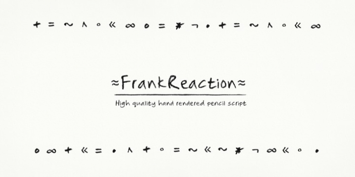 Frank Reaction font preview