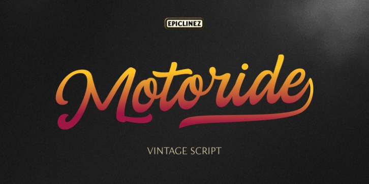 Motoride font preview