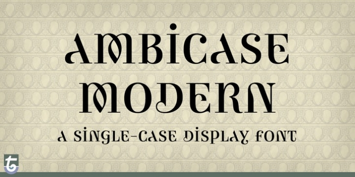 Ambicase Modern font preview