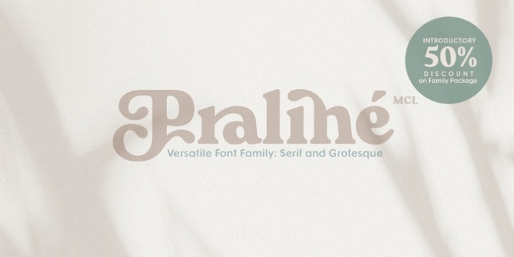 Praline MCL font preview