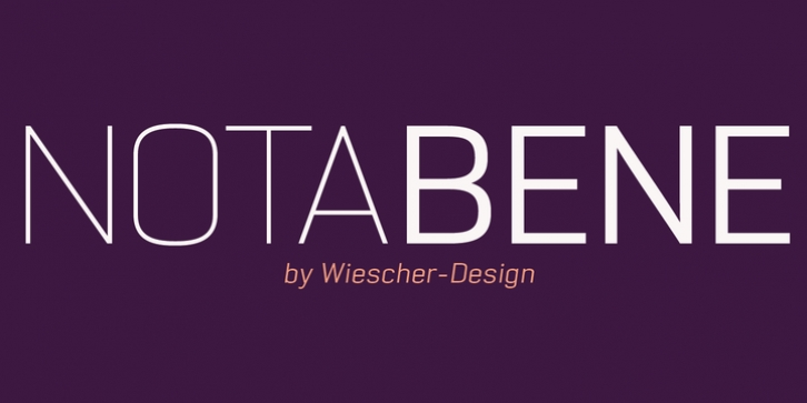 NotaBene font preview