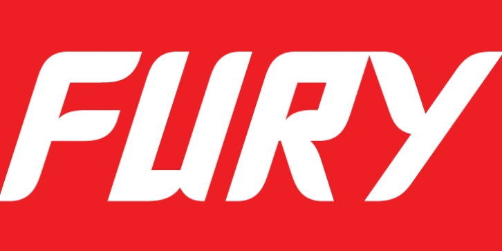 Fury font preview