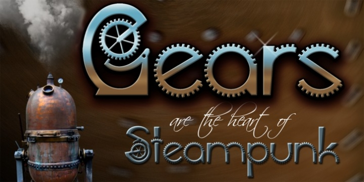 Gears font preview