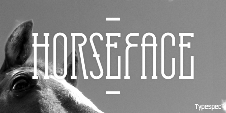 HorseFace font preview