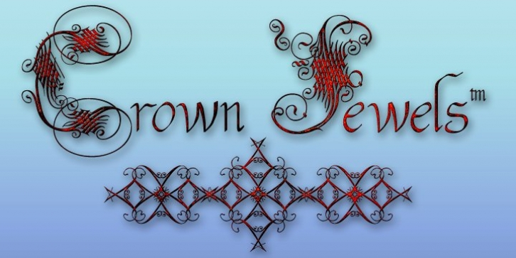 Crown Jewels font preview