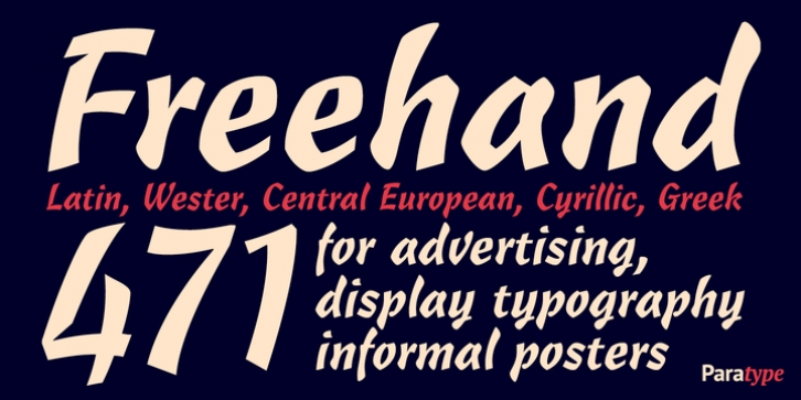 Freehand 471 font preview