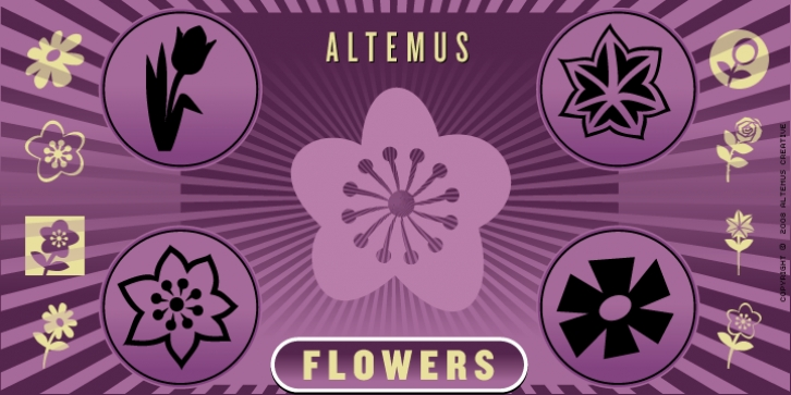 Altemus Flowers font preview