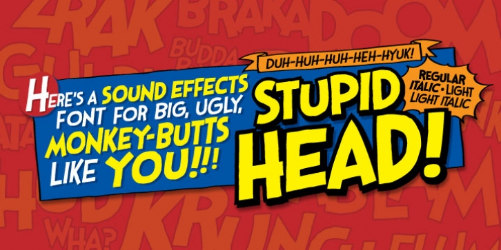 Stupid Head BB font preview