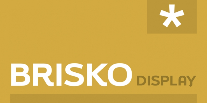 Brisko Display font preview