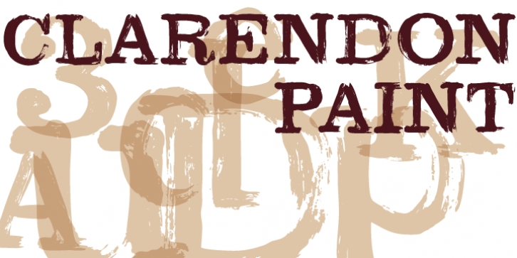 Clarendon Paint font preview